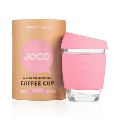 NEW Strawberry pink reusable glass cup (various sizes) by JOCO