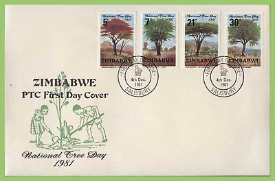 Zimbabwe 1981 National Tree Days set on First Day Cover