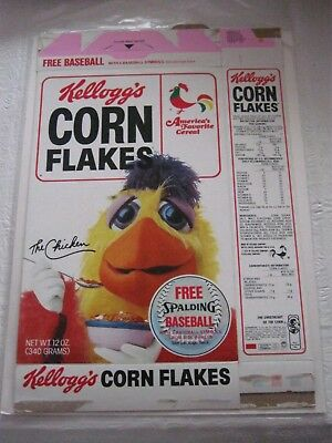 1983 Kelloggs Corn Flakes San Diego Chicken Old Vintage Cereal Box