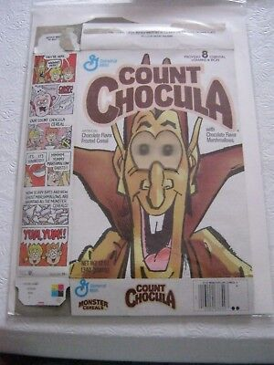 1990 General Mills Count Chocula Old Vintage Cereal Box
