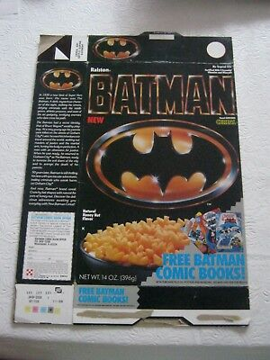 1989 Ralston Batman Old Vintage Cereal Box New Dc Comics