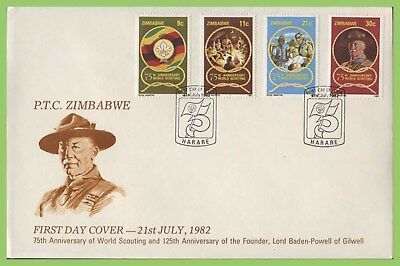 Zimbabwe 1982 75th Anniversary of Boy Scouts set on First Day Cover