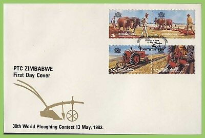 Zimbabwe 1983 World Ploughing Contest set on First Day Cover