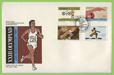 Zimbabwe 1984 Olympic Games, Los Angeles set on First Day Cover