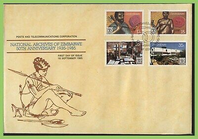 Zimbabwe 1985 50th Anniv of National Archives set on First Day Cover