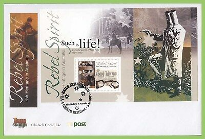 Ireland 2001 Ned Kelly miniature sheet on First Day Cover