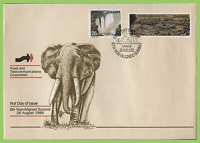 Zimbabwe 1986 Eighth Non-Aligned Summit Conference set on First Day Cover