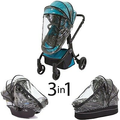 3-in-1 Rain Cover Baby Car Seat Stroller Pushchairs Wind Weather Shield