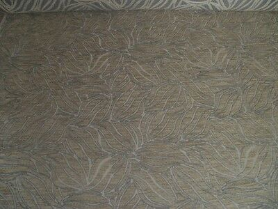 3 5 Metres Beige Patterned Chenille Upholstery Fabric 11 00
