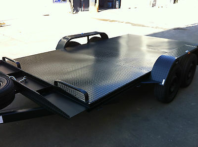 Car Trailer brand new Tandem axle 12X6.6FT 2T ATM WITH BRAND NEW WHEEL AND TYRE