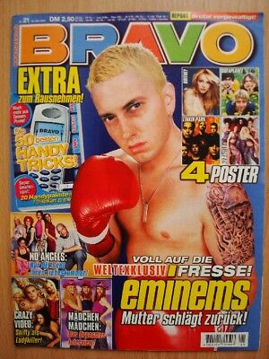 BRAVO 21 2001 Eminem Britney Spears No Angels Sofaplanet Crazy Town Linkin Park