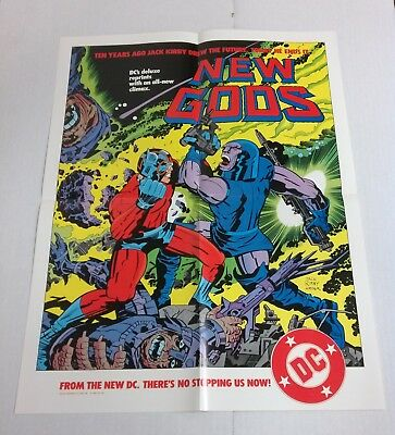 New Gods promo poster (DC Comics 1984) Jack Kirby - Darkseid - Orion