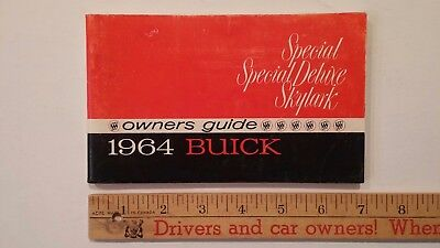 1964 BUICK - Special/Skylark Owners Guide - Very Good Condition (US)