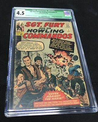 SGT. Fury #1 CGC 4.5 Qualified Marvel 1963 - 1st SGT. Nick Fury & The Howlers!