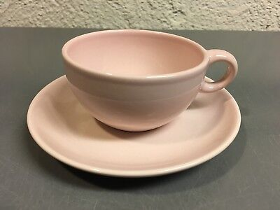 Vintage Russel Wright Iroquois Casual Pink Sherbet Cup & Saucer Set
