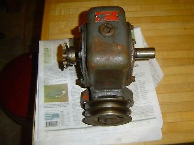 Vintage Perfection American  30:1 ratio gear speed reducer .75hp input @ 1750rpm