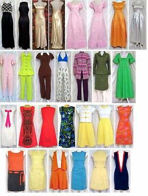 Vintage 1950's 60's 70's Clothing - Dresses, Palazzo Pants, Skirts - 80 Pieces