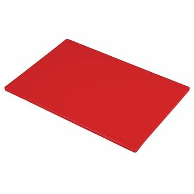 Hygiplas Commercial Red Chopping Board Colour Coded Raw Meat 450x300x12mm