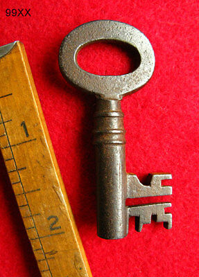Skeleton Key - Old Antique Key Complex Bit - More Exotic Rare Weird Keys Here