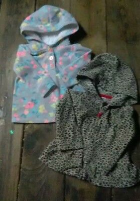 Baby Girl Winter Jacket Shirt Hooded Carters Lot Of 2 Size 9 Months