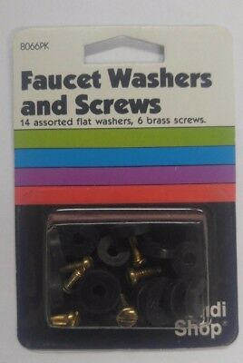 14 Assorted Faucet Flat Washers And 6 Brass Screws, Handy Shop_ 8066PK