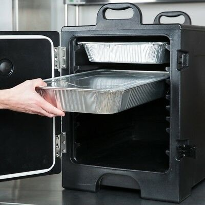 Insulated Food Pan Carrier Hotel Catering Buffet Meal Transport Cooler Black