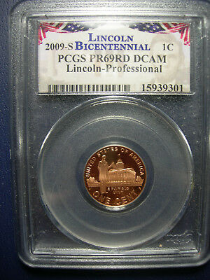 2009-S Professional PCGS Proof 69 Red Deep Cameo Lincoln Cent PR69 DCAM graded