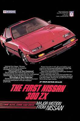 1983 Nissan 300 ZX: The First Nissan 300ZX Vintage Print Ad