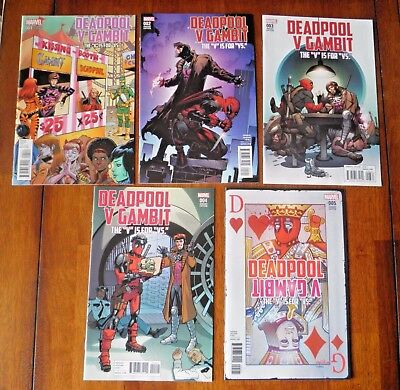 DEADPOOL V GAMBIT #1-5 Complete Set + Variant Set 1-5 (10 books) VS VFN+/NM-
