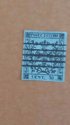 ITALY Scarce 40c Modena Used Stamp (No Point After Value) as Photo CV $2.650.00
