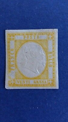 ITALY Great 1861 20g Mint Neapolitan Province Stamp as Per Photos CV $2.400.00