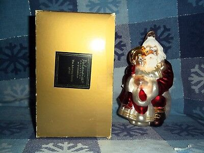"Kurt Adler Polonaise  The Adoring Santa Ap955  7"" Tall Christmas Ornament Nib"