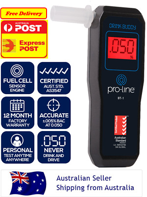PROLINE Certified To AS3547 Personal Breathalyser Alcohol Test POLICE FUEL CELL