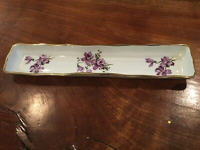 "HAMMERSLEY BONE CHINA ""VICTORIAN VIOLETS"" Pin Tray Candy Dish"