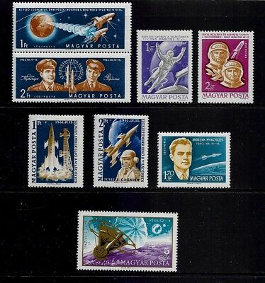 HUNGARY mixed mint collection, Space, Astronauts, Rockets, MNH MUH