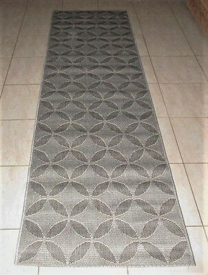 New Grey Modern Heatset Floor Hallway Runner Rug 70X230Cm