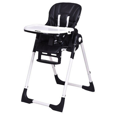 Baby High Chair Infant Toddler Feeding Booster Folding Height Adjustable Recline