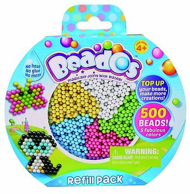 Beados Toy Playset - Refill Pack - Contains 500 Beado's Beads in 5 Colours