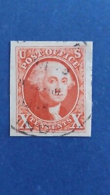 U.S.A Great Old Imperforated 10 Cents Used Stamp 4 Good Margins as Per Photo