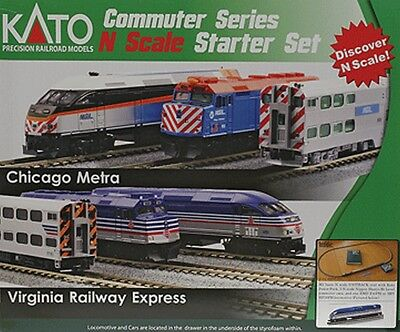 Kato-MP36PH Commuter Train Starter Set -- Virginia Railway Express - N