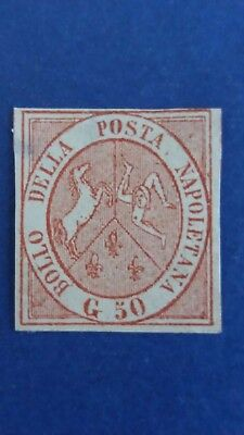 ITALY Rare 50G Naples Mint Stamp in Great Condition as Per Photos CV $20.000.00