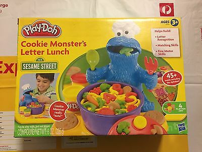 Cookie Monster'S  Play-Doh Letter Lunch Brand New