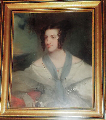 BEAUTIFUL Antique 19th Century Oil Portrait Painting of a Lady, c. 1820