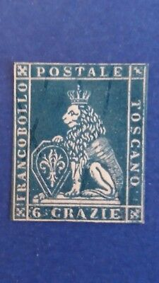 ITALY Rare Mint Signed For Tuscany 6 Crazie Stamp as Per Photos CV $18.500.00