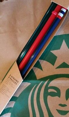 [Free Shipping] NWB Starbucks Venti Cold-To-Go Straws Summer 2017