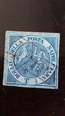 ITALY Rare NAPLES Used Stamp in Excellent Condition as Per Photo CV $21.500.00