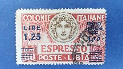 ITALY Very Rare Used Overprinted Libia Stamp as Per Photo CV $21.500.00. Bargain