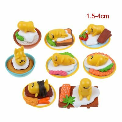 8Pcs/Set Sanrio Gudetama Collection Lazy Egg Minifi gures Kid Toy Xmas Gifts US