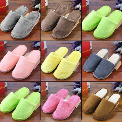 Women Men Home Anti-slip Shoes Soft Warm Cotton House Indoor Slippers 38-41 W0