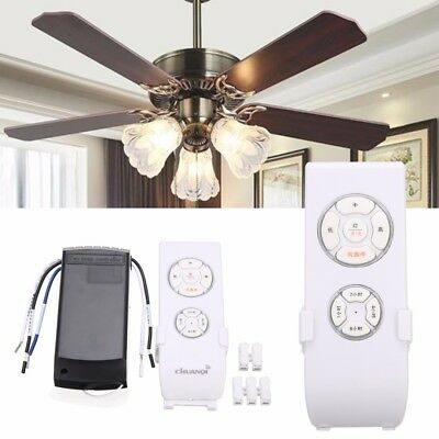 Deckenventilator Fernbedienung Lüfter Lampe Fan Wireless Remote Control 220V 60M